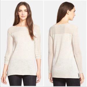 Eileen Fisher Bateau Neck Wool Tunic Top